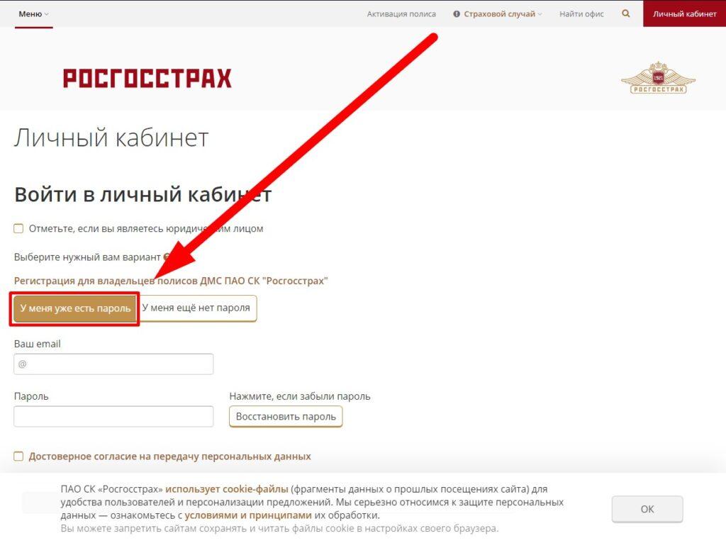 Вход в личный кабинет сайта rgs.ru